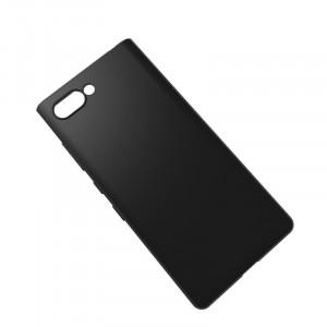 Силиконовый матовый непрозрачный чехол для BlackBerry KEY2  Черный