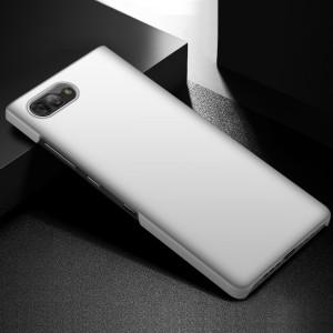 Пластиковый непрозрачный матовый чехол для BlackBerry KEY2  Белый