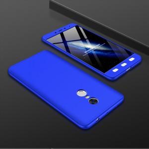 Двухкомпонентный сборный пластиковый матовый чехол для Xiaomi RedMi Note 4 Синий