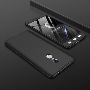 Двухкомпонентный сборный пластиковый матовый чехол для Xiaomi RedMi Note 4 Черный