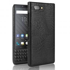 Чехол накладка текстурная отделка Крокодил для BlackBerry KEY2 Черный