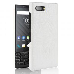 Чехол накладка текстурная отделка Крокодил для BlackBerry KEY2 Белый