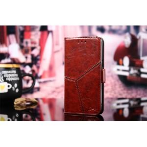 Винтажный чехол портмоне подставка текстура Линии на силиконовой основе с отсеком для карт на магнитной защелке для Huawei Honor 8X Бордовый