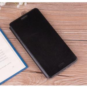 Чехол горизонтальная книжка на силиконовой основе для Huawei Honor 8X Черный