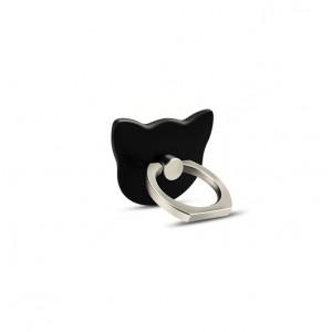 Фигурное клеевое кольцо-подставка дизайн Котики Черный