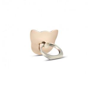 Фигурное клеевое кольцо-подставка дизайн Котики Бежевый