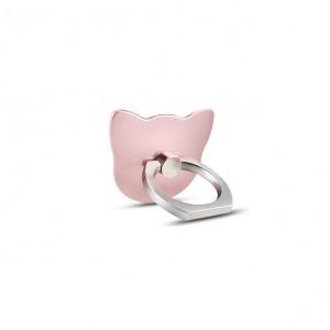 Фигурное клеевое кольцо-подставка дизайн Котики Розовый