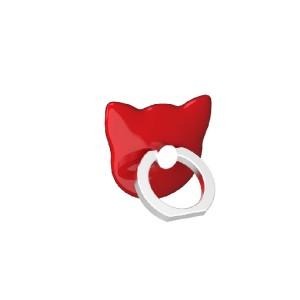 Фигурное клеевое кольцо-подставка дизайн Котики Красный