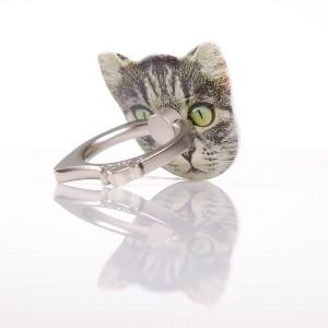Фигурное клеевое кольцо-подставка с принтом дизайн Котики
