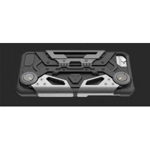 Силиконовый непрозрачный матовый чехол с улучшенной защитой элементов корпуса, с ножкой-подставкой и держателем-джойстиком для Iphone 6 Plus/6s Plus/7 Plus /8 Plus Серый