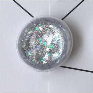 Телескопический держатель/подставка/попсокет с внутренней аква-аппликацией Серый