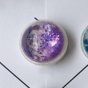 Телескопический держатель/подставка/попсокет с внутренней аква-аппликацией Фиолетовый