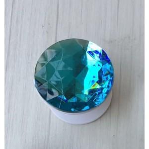 Телескопический держатель/подставка/попсокет с текстурой Бриллиант Синий