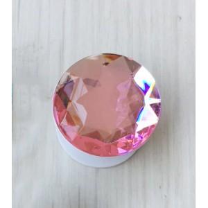 Телескопический держатель/подставка/попсокет с текстурой Бриллиант Розовый