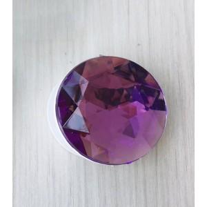 Телескопический держатель/подставка/попсокет с текстурой Бриллиант Фиолетовый