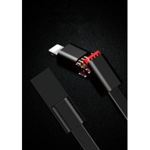 Интерфейсный антизапутываемый силиконовый кабель плоского сечения USB Type-C 1.5м разборного типа для многоразового использования