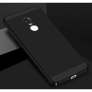 Пластиковый непрозрачный матовый чехол с текстурным покрытием Точки для Xiaomi RedMi Note 4X