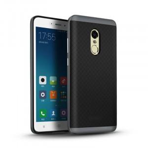Двухкомпонентный силиконовый матовый непрозрачный чехол с поликарбонатными бампером и крышкой и текстурным покрытием Точки для Xiaomi RedMi Note 4X