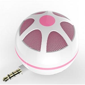 Портативный универсальный внешний мини-динамик 3.5мм 3Вт серия Sphere Розовый