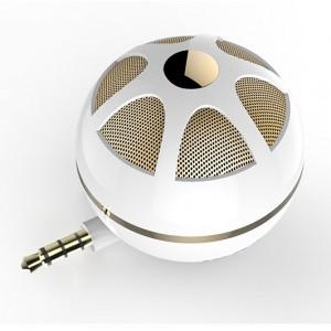 Портативный универсальный внешний мини-динамик 3.5мм 3Вт серия Sphere Бежевый
