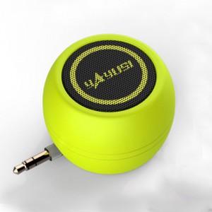 Портативный универсальный внешний мини-динамик 3.5мм 3Вт серия ColorMusic Желтый