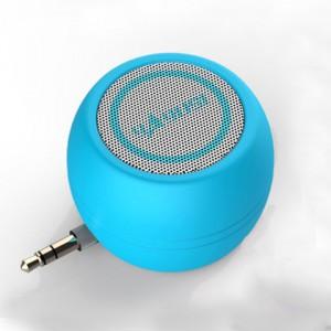 Портативный универсальный внешний мини-динамик 3.5мм 3Вт серия ColorMusic Голубой
