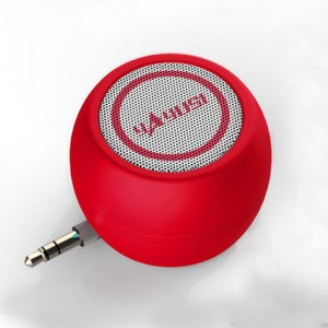 Портативный универсальный внешний мини-динамик 3.5мм 3Вт серия ColorMusic Красный