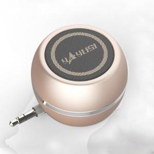 Портативный универсальный внешний мини-динамик 3.5мм 3Вт серия ColorMusic Бежевый