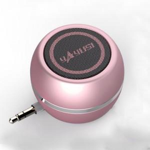 Портативный универсальный внешний мини-динамик 3.5мм 3Вт серия ColorMusic Розовый
