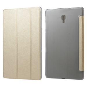 Сегментарный чехол книжка подставка текстура Золото на полупрозрачной поликарбонатной основе для Samsung Galaxy Tab A 10.5 Бежевый