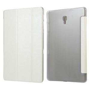 Сегментарный чехол книжка подставка текстура Золото на полупрозрачной поликарбонатной основе для Samsung Galaxy Tab A 10.5 Белый