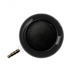 Портативный универсальный внешний мини-динамик 3.5мм 3Вт серия Metallic Черный