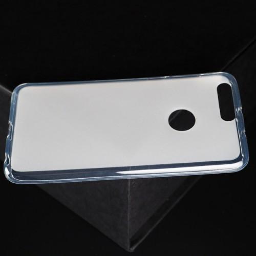 Силиконовый матовый полупрозрачный чехол для Huawei Honor 8 Голубой