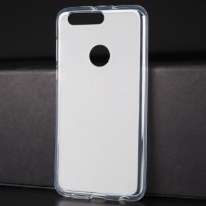 Силиконовый матовый полупрозрачный чехол для Huawei Honor 8 Белый