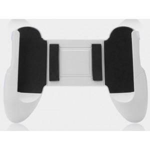 Эргономичный игровой джойстик-держатель для гаджетов 4.5-6.5 дюймов с мягкими вставками и доступом к зарядному разъему Белый