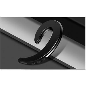 Беспроводной пылевлагозащищенный bluetooth 4.2 внешний наушник костной проводимости с функцией гарнитуры и кнопками регулировки громкости и включения Черный