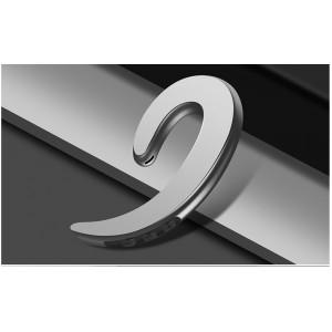 Беспроводной пылевлагозащищенный bluetooth 4.2 внешний наушник костной проводимости с функцией гарнитуры и кнопками регулировки громкости и включения Серый