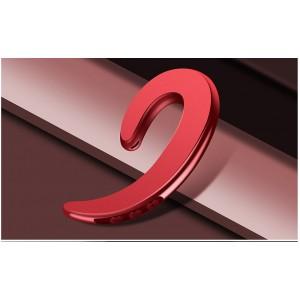 Беспроводной пылевлагозащищенный bluetooth 4.2 внешний наушник костной проводимости с функцией гарнитуры и кнопками регулировки громкости и включения Красный