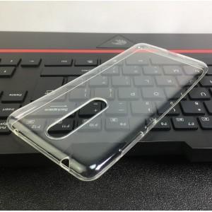 Силиконовый глянцевый транспарентный чехол для Nokia 3.1 Plus