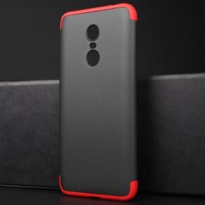 Сборный двухцветный пластиковый матовый чехол для Xiaomi RedMi 5 Plus