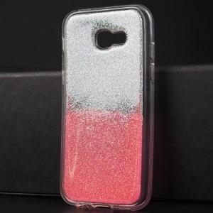 Силиконовый глянцевый транспарентный чехол с внутренней аква-аппликацией для Samsung Galaxy A5 (2017) Розовый