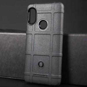 Силиконовый матовый непрозрачный чехол с текстурным покрытием Клетка для Xiaomi RedMi Note 5 Черный