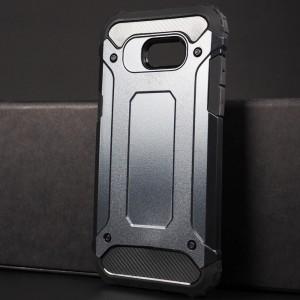 Противоударный двухкомпонентный силиконовый матовый непрозрачный чехол с поликарбонатными вставками экстрим защиты для Samsung Galaxy A5 (2017) Синий