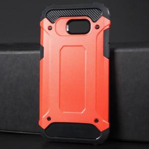 Противоударный двухкомпонентный силиконовый матовый непрозрачный чехол с поликарбонатными вставками экстрим защиты для Samsung Galaxy A5 (2017) Красный