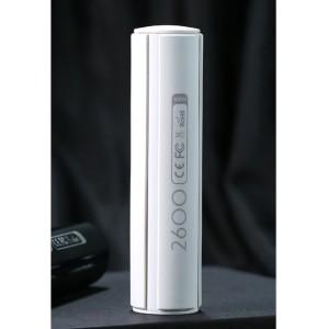 Ультракомпактное портативное зарядное устройство 2600 mAh дизайн Батарейка с индикатором заряда Белый