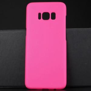 Пластиковый непрозрачный матовый чехол для Samsung Galaxy S8 Пурпурный