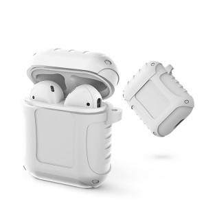 Флуоресцентный силиконовый нескользящий противоударный чехол для зарядного чехла AirPods Белый
