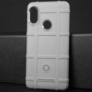 Силиконовый матовый непрозрачный чехол с текстурным покрытием Клетка для Xiaomi RedMi Note 5 Серый