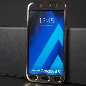 Двухкомпонентный сборный пластиковый глянцевый чехол для Samsung Galaxy A5 (2017) Бежевый