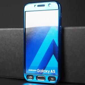 Двухкомпонентный сборный пластиковый глянцевый чехол для Samsung Galaxy A5 (2017) Синий